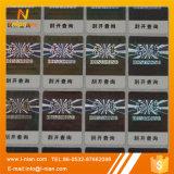 Ярлык стикера изготовленный на заказ печатание голографический