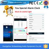 Van de LEIDENE van de nieuwigheid E27 Spreker van Bluetooth van de Lamp Audio10W Bol van de Nacht de Slimme