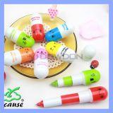 Reizendes Pille-Form-Briefpapierplastikballpoint-Feder-Zeichen-Zoll des Ausdruck-6