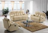 Sofá de la sala de estar con el sofá moderno del cuero genuino fijado (766)