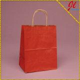 Bolsos sólidos del arte de los bolsos de Kraft de los compradores del color del tinte (Kraft adentro)