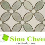 Mattonelle di mosaico crema del marmo di figura del fiore di Marfil