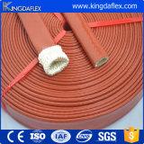 シリコーンの上塗を施してあるガラス繊維の編みこみの火の袖