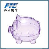 Пластичный прозрачный дешевый крен деньг коробки монетки конструкции свиньи