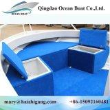 bateau en aluminium de ponton de pêche de fleuve de 17FT 5m mini