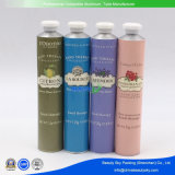 Tubos de aluminio vacíos de empaquetado de la crema de cara del cuidado de pelo de la crema de piel del cosmético del cuidado de la carrocería