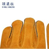 Длинней усиленные кожей теплостойкNp перчатки заварки для Welders