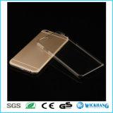 Случай мобильного телефона кожи прозрачного ясного PC трудный