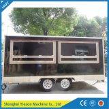 Sicherheits-schützendes mobiles elektrisches Nahrungsmittelkarren-Preis-Shanghai-Nahrungsmittelfahrzeug