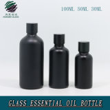 30ml 50ml 100mlの無光沢の黒いガラス精油のびん