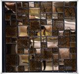 [غلد فويل] فسيفساء زجاجيّة مع شريط قرميد [كرستل غلسّ] مع 304 [ستينلسّ ستيل]