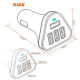 Chargeur gauche de remplissage rapide de véhicule du chargeur 4 USB du véhicule 4.8A