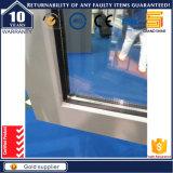 Finestra di alluminio grigia rivestita della stoffa per tendine della polvere