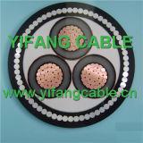 1-35kv cable de transmisión de cobre eléctrico del conductor XLPE milivoltio (voltaje medio)