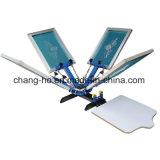 Печатная машина шелковой ширмы тенниски 4 цветов