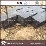 舗装および私道のための自然で黒い玄武岩の玉石の石