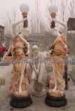 Jardín que talla la estatua de piedra de la linterna con la escultura de mármol (SY-C1063)