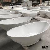 Vasca da bagno di pietra modellata superficie solida del fornitore di Kkr