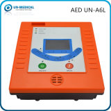 AED externo automatizado portable de primeros auxilios del Defibrillator de la forma de onda de ECG