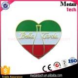 Aduana barata de la divisa del Pin de la solapa del diseño de la dimensión de una variable del corazón del metal