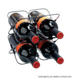 Het Rek van de Fles van de nieuwe Wijn van Rek 4 of 6 van de Wijn van de Draad van het Ontwerp Praktisch