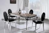 Trixy schwarzes Samt-Oval-rückseitiger speisender Stuhl