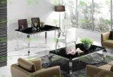 (ST-091) Meubles de maison moderne en verre trempé Table à manger