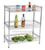 ホーム様式の調節可能な金属の台所ワイヤー棚付け
