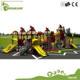 安い子供のスライドが付いている屋外の運動場装置