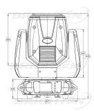 230Wプロ小型移動ヘッドビーム段階の照明