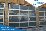 ヨーロッパ式アルミニウムガラスガレージのドアかミラーのガラスガレージのドア
