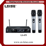 Microfono della radio di frequenza ultraelevata dei canali doppi di alta qualità Ls-P5