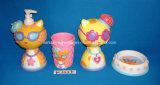 Kleur-verglaasde Ceramische Reeks van de Toebehoren van 4 Badkamers