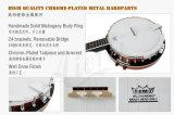 Банджо 5-String тавра Китая Aiersi электрическое для обеспеченного ODM OEM сбывания (BJ005E-24)