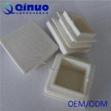 Fiches en plastique d'extrémité de meubles blancs noirs faits sur commande pour la tuyauterie carrée