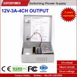 12V 3A4CH Output kabeltelevisie Camera Switching Power Supply