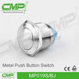 Interruptor de pulsador del acero inoxidable 19m m