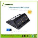 Indicatore luminoso solare impermeabile senza fili alimentato solare del sensore di movimento del LED con IP65