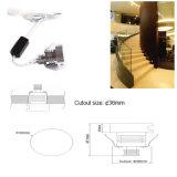 mini DEL vers le bas lampe 1W légère de 12V pour l'escalier