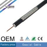 Cable coaxial de alta velocidad 75ohm del estándar RG6 de Sipu para el monitor