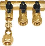 Válvula del latón de la cuerda de rosca masculina de la desviación del gas