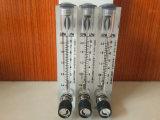調整弁が付いているガラス管の流れメートルのアクリルのパネルによって取付けられる流量計