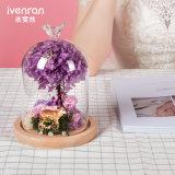 Fiore reale di 100% Rosa in vetro per il regalo del biglietto di S. Valentino