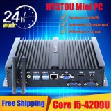 PC industrial de la base I5 4200u Fanless de Intel mini con 4G el SSD del RAM 64G