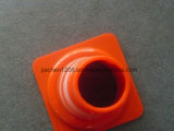 Cono rosso solido riflettente ad alta intensità di traffico del PVC 550mm della fascia