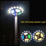 Iluminación colorida del UFO Iluminación solar integrada del jardín