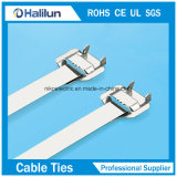 Silberner abwerfbarer Typ Edelstahl-Kabelbinder