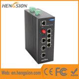 Interruptor de rede industrial com 7 Ethernet rápidos & 2 gigabits SFP