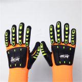 Sandy-Nitril-fertiges Nylon/Lycra Sicherheits-Handschuhe mit TPR&Sponges dem Nähen