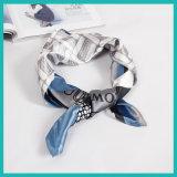 Collare quadrato della sciarpa di retro stampa della sciarpa del signore della sciarpa del vestito degli uomini su ordinazione dell'Inghilterra della sciarpa di seta degli uomini piccolo